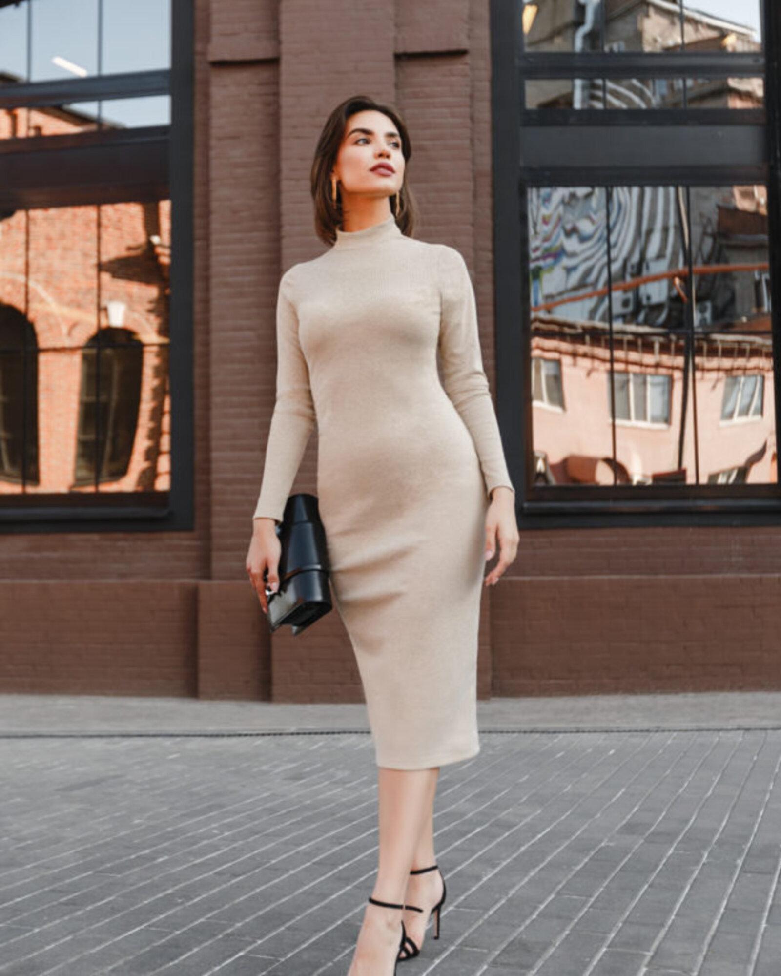 Платье женское «Slim» золотое