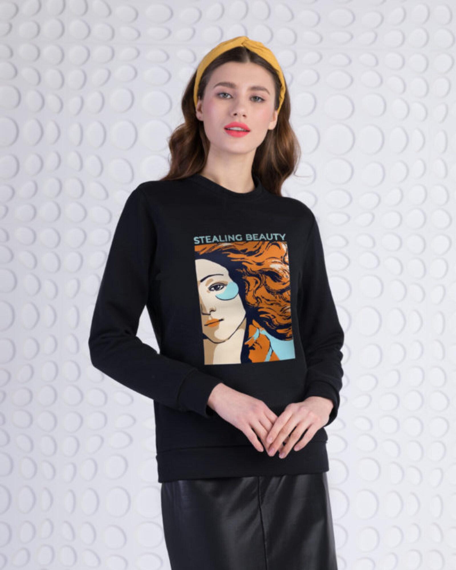 Свитшот женский «Венера» черный