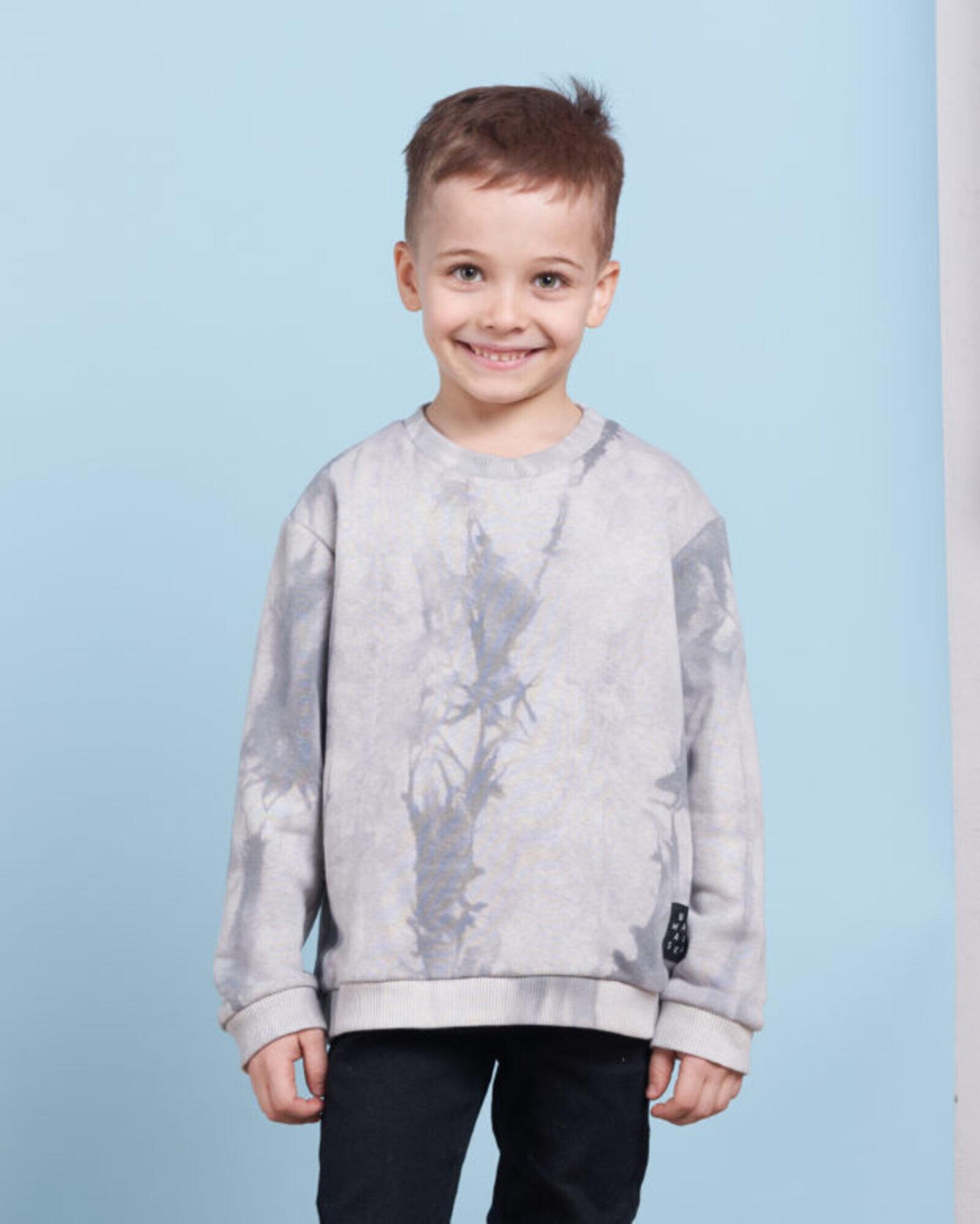 Свитшот детский «Тай Дай» серый