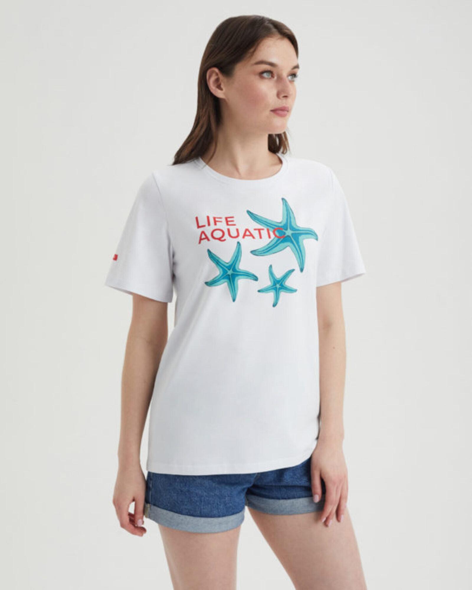 Футболка женская «Морские Звезды» белая