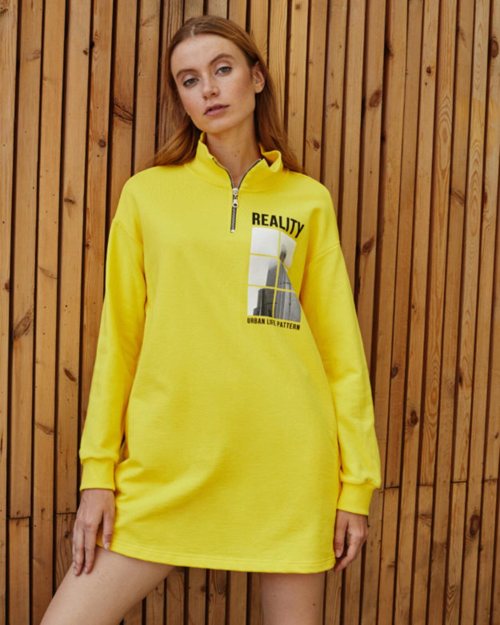 Платье женское «Reality» желтое