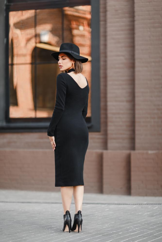 Платье женское «Slim» черное