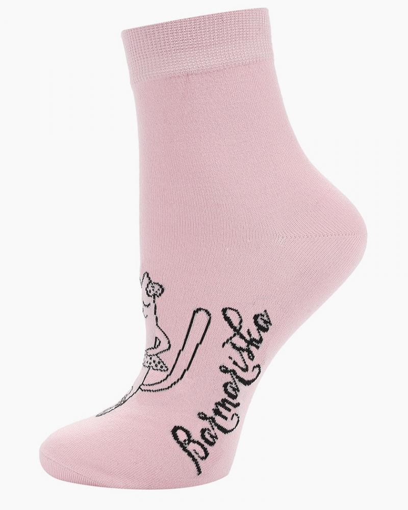 Носки женские «Кошки-Балерины» розовые