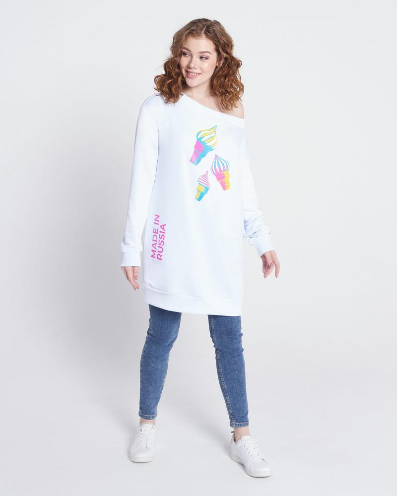 Платье-свитшот женское «Мороженое»