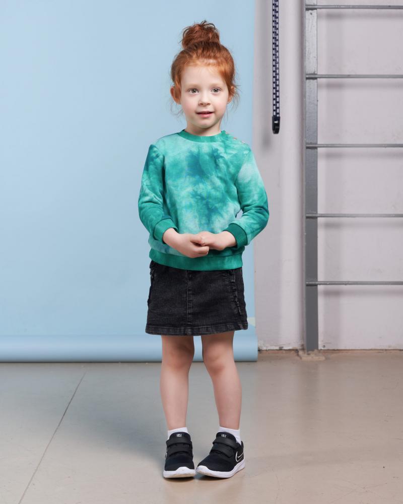 Свитшот детский «Тай Дай» зеленый