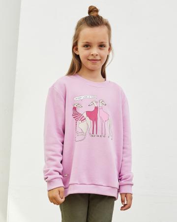 Свитшот детский «Левретки Vogue» розовый