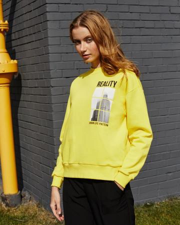Свитшот женский «Reality» желтый