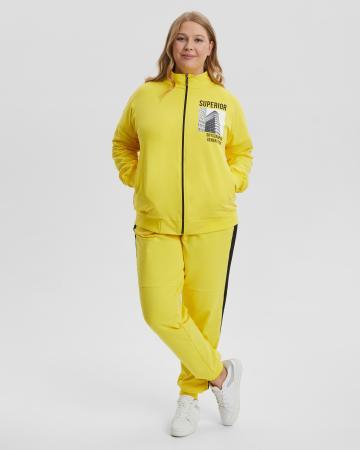 Спортивный костюм женский «Superior» желтый Plus size