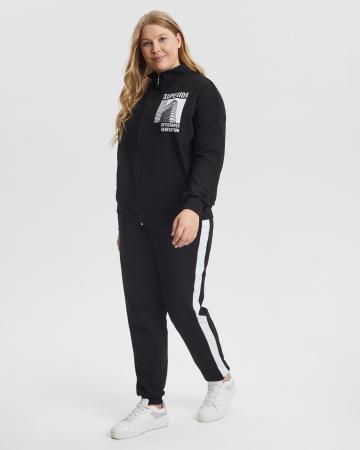 Спортивный костюм женский «Superior» черный Plus size