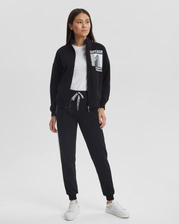 Спортивный костюм женский «Superior» черный