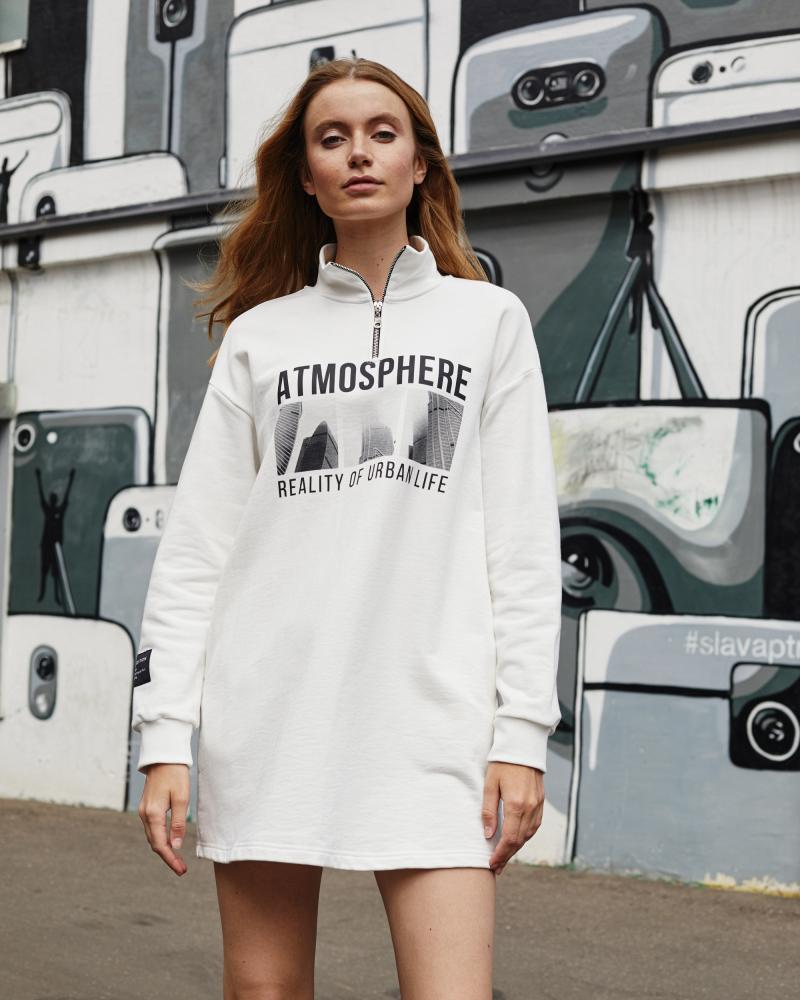 Платье женское «Atmosphere» экрю