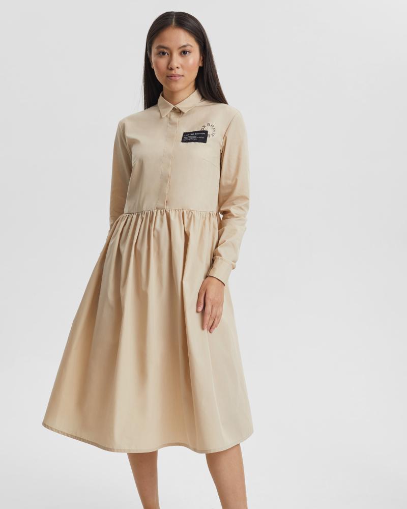 Платье женское «Love Tags» бежевое