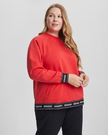 Свитшот женский «BRMSK» красный Plus size