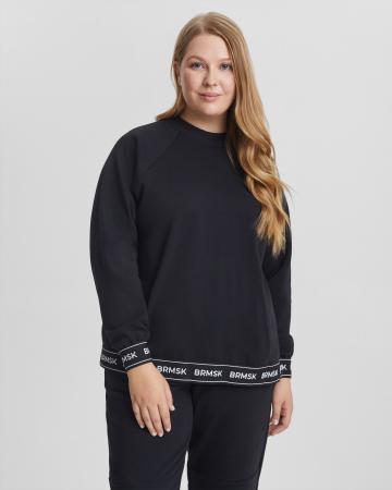 Свитшот женский «BRMSK» черный Plus size