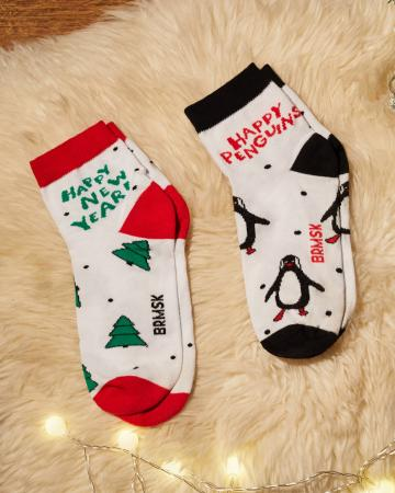 Носки «Веселые Пингвины» 2 пары
