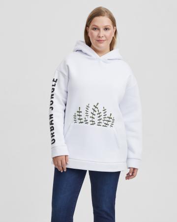 Худи женское «Городские джунгли» с начесом Plus size