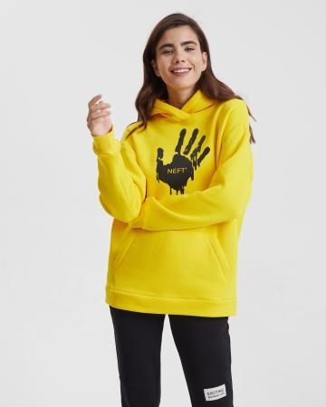 Худи женское «Нефть» с начесом желтое