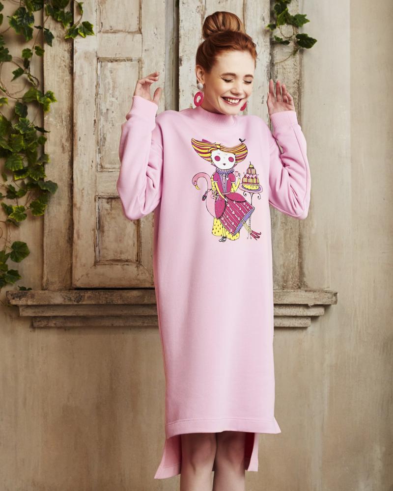 Платье-свитшот женское «Алиса»